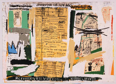 Jean-Michel Basquiat, 'JAWBONE OF AN ASS  Set II, 1982/2005',