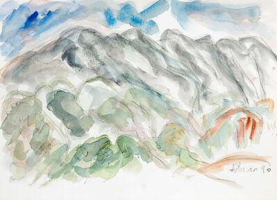 Etel Adnan, 'Montagne Sainte-Victoire 2', 1990