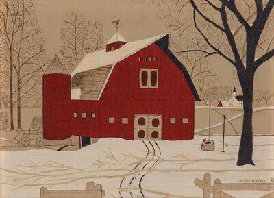 Lucille Baratz, 'Red Barn', 1968