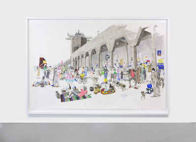 Charles Avery, 'Untitled (City Wall market scene)', 2020
