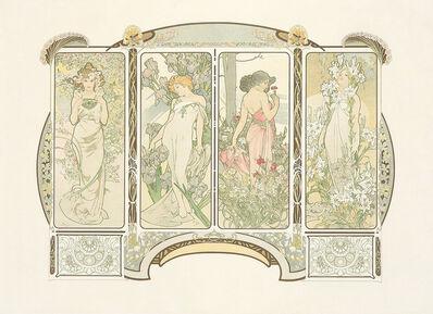 Alphonse Mucha, 'The Flowers. ', 1900