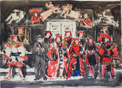 David Milne (1882-1953), 'King, Queen, and Jokers IV: It's a Democratic Age', c. 22 January 1942