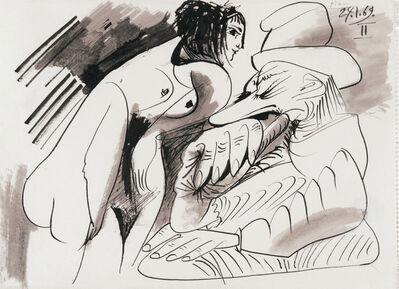 Pablo Picasso, 'Nu debout et homme assis', 1969