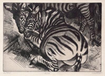 Dame Laura Knight DBE RA RWS, 'Zebras', 1929-1930