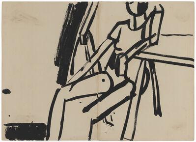Allan Kaprow, 'Seated Model in Leotard in Studio', 1954