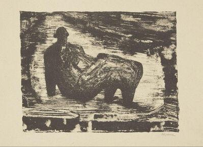 Henry Moore, 'Black Reclining Figure IV', 1974