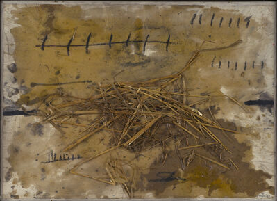 Antoni Tàpies, 'Collage à la paille'