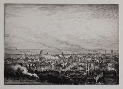 Christopher Richard Wynne Nevinson, 'London from Parliament Hill ', 1923