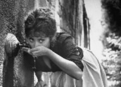 Alfred Eisenstaedt, 'Actress Sophia Loren Drinking Water from a Spigot, Italy', 1961