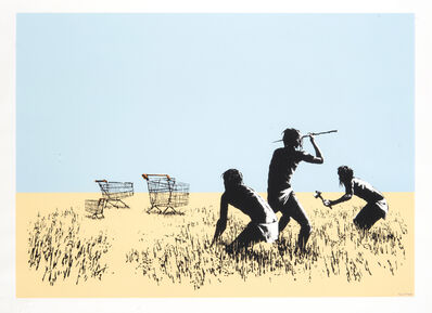 Banksy, 'Trolley Hunters (Bethlehem Edition)', 2007