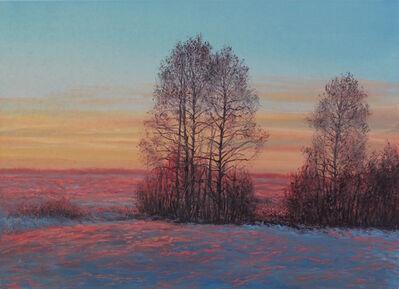 Viktor Kucheryavyy, 'Snowy Field at Sunset', 2019