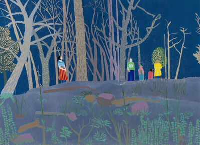 Tom Hammick, 'the Dark Woods of England', 2019