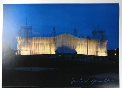 "Christo and Jeanne-Claude, '""Wrapped Reichstag"" Project, SIGNED, Offset Color Lithographic Poster LARGE', 1995"