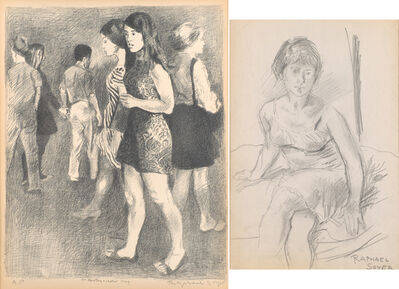 Raphael Soyer, 'Two works of art'