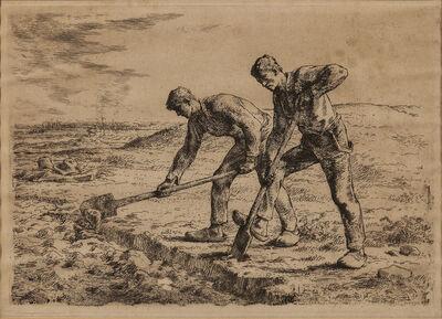 Jean-François Millet, 'Les bêcheurs', 1855-56