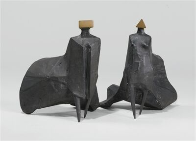 Lynn Chadwick, 'Walking Cloaked Figures I', 1978