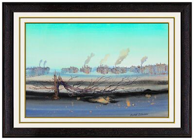 Michel Delacroix, 'Michel Delacroix Original Gouache Painting Hand Signed French Lanscape Art oil', Late 20th Century