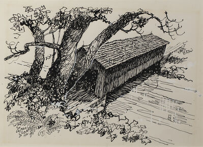 Eric Sloane, 'Covered Bridge', Date Unknown