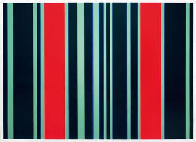 Günter Fruhtrunk, 'Trennende Rot', 1970