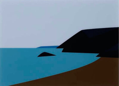 Julian Opie, 'Cornish Coast 2.: Lantic Bay', 2017