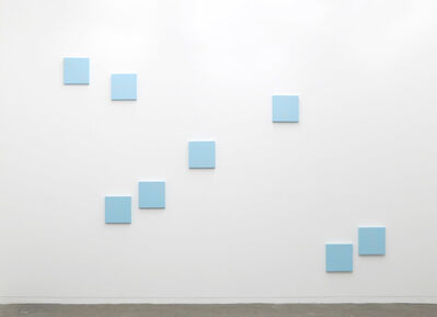 Robert Barry, 'Blue Painting (8 parts)', 2019