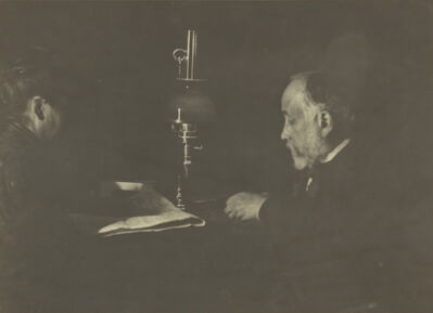 Edgar Degas, 'Louise Hal'vy Reading to Degas', 1895