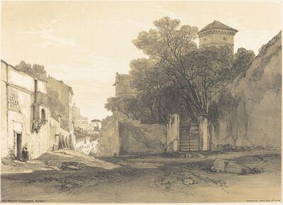 Edward Lear, 'Via Porta Pinciana, Rome'