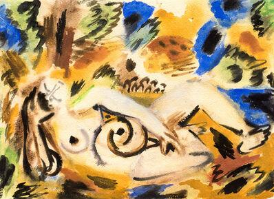 Ernst Wilhelm Nay, 'Liegende im Wald II', 1941