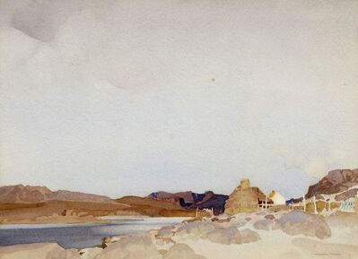 William Russell Flint, 'Crofts at Reiff, Ross-shire'