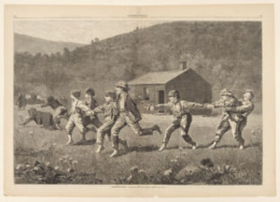 Winslow Homer, 'Snap the Whip, from Harper's Weekly, September 20, 1873', 1873