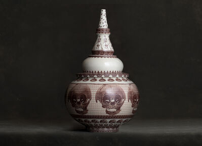Peter Olson, 'Jar with Skulls', 2019