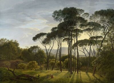 Hendrik Voogd, 'Italian Landscape with Umbrella Pines', 1807