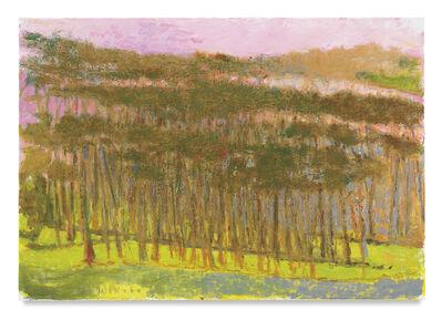Wolf Kahn, 'Three Tree Rows', 2017