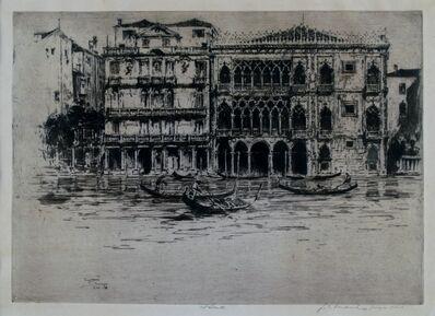Jan Vondrous, 'Ca D'Oro, Venice', 1914