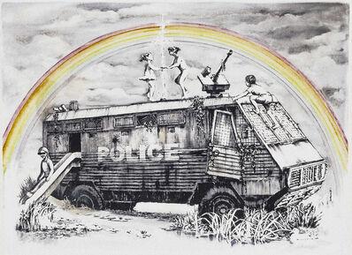 Banksy, 'Police Riot Van (Dismaland Gift Print)', 2015