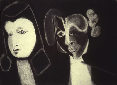 Fay Lansner, 'Two Heads', 1951