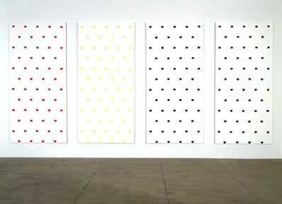 Niele Toroni, 'Empreintes de pinceau n°50 répétées à intervalles réguliers de 30 cm', 1997