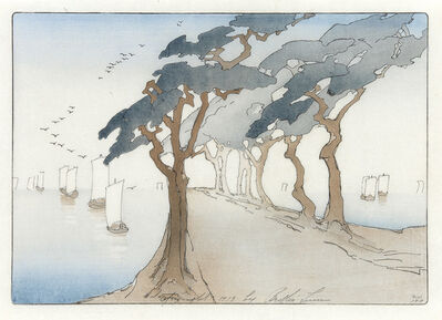 Bertha Lum, 'Pines by the Sea', 1913