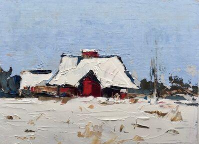 Sandra Pratt, 'Red Barn in Winter', 2020