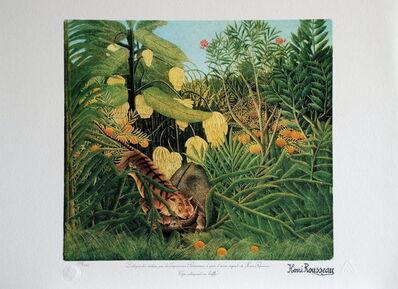 Henri Rousseau, 'Tigre attrapant un buffle (Tiger catching a buffalo)', ca. 1975