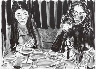 Chantal Joffe, 'Alba and Esme at Breakfast', 2018