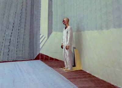 Michel Platnic, 'Self portrait in a pool side view', 2009