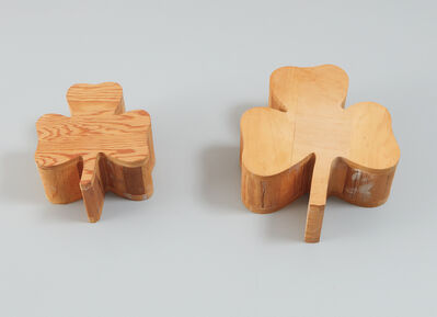 Polly Apfelbaum, 'Two works: (i-ii) Wood Clovers (from Daisy Chain)', 1989