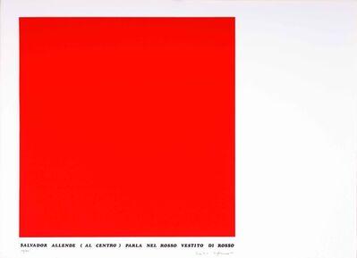 Emilio Isgrò, 'Storie rosse. Salvador Allende', 1974