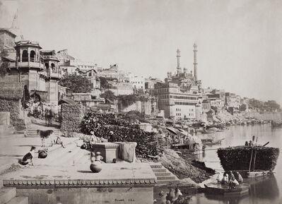 Samuel Bourne, 'The Burning Ghat', 1865-1866