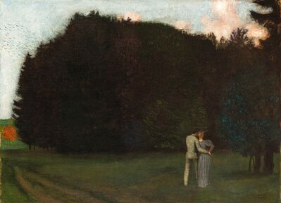 Franz von Stuck, 'Lovers at the edge of the woods', ca. 1892