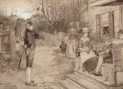 Howard Pyle, 'Sunday In Old Catskill, Harper's New Monthly Magazine Story Illustration', 1879