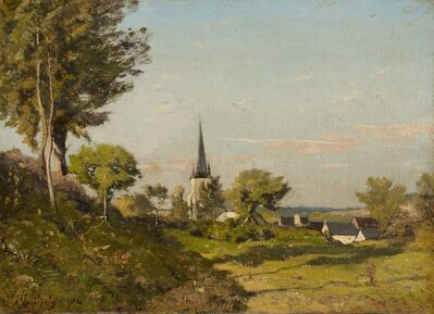 Henri-Joseph Harpignies, 'Landscape with a Church', 1891
