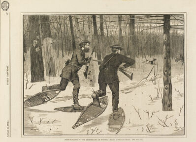 Winslow Homer, 'Deer-Stalking in the Adirondacks in Winter', 1871