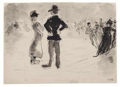 Emil Nolde, 'Schlittschuhläufer', 1908